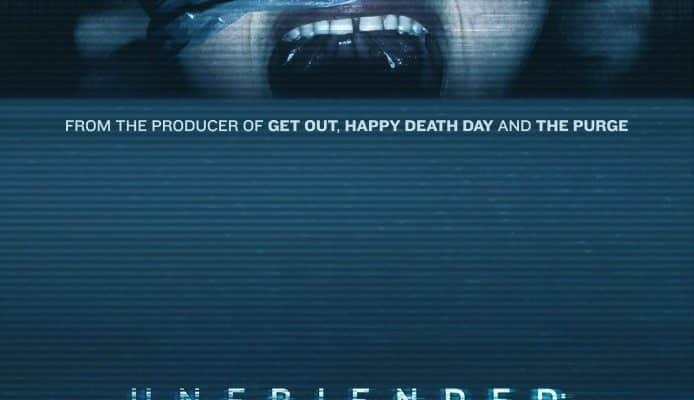 Unfriended: Dark Web poster with a girl who is being apprehended with plastic wrap
