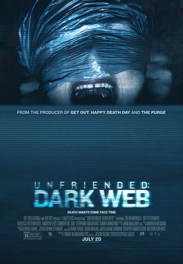 Unfriended Dark Web movie poster