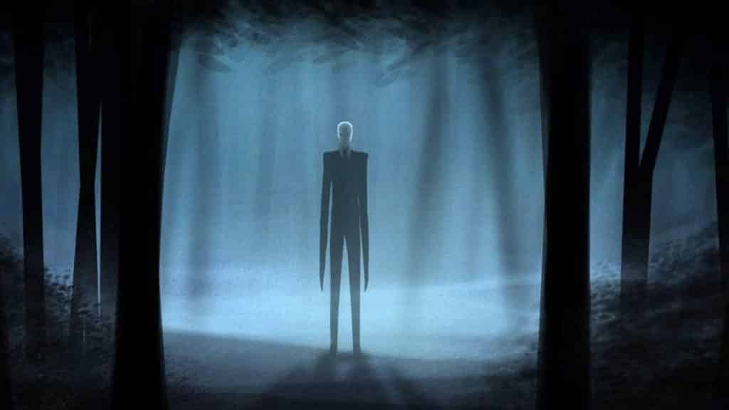 Slender Man Doing his thing, standing.