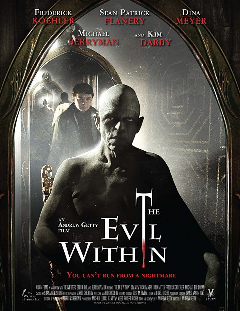 Poster for The Evil Within, the movie reviewed on Horror Movie Talk Episode 8