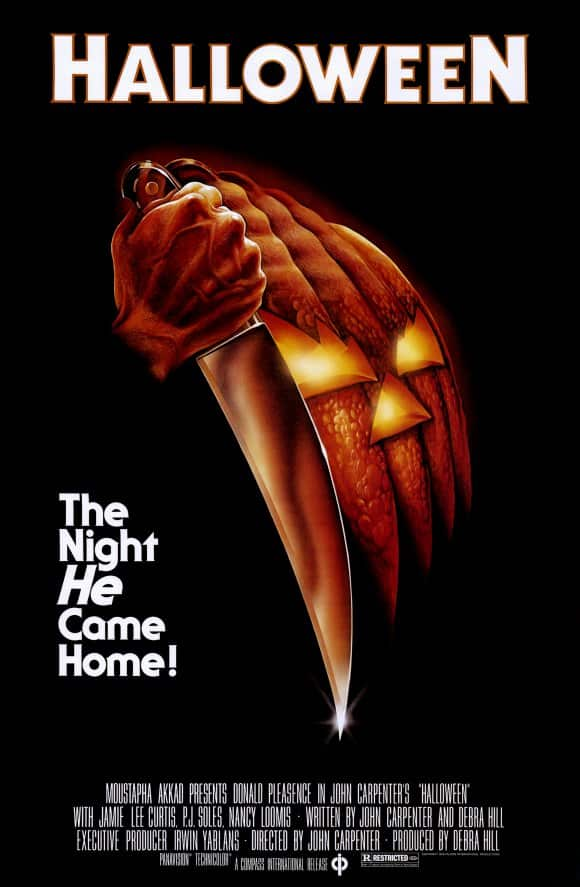 Halloween Movie Poster from 1978 for our Horror Movie Podcast