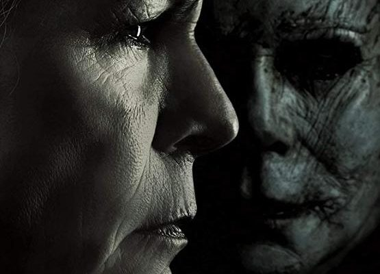 Halloween (2018) Poster. The film that horror movie podcast, Horror Movie Talk is reviewing this week.