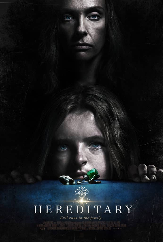 The movie poster for the 2018 film, Hereditary