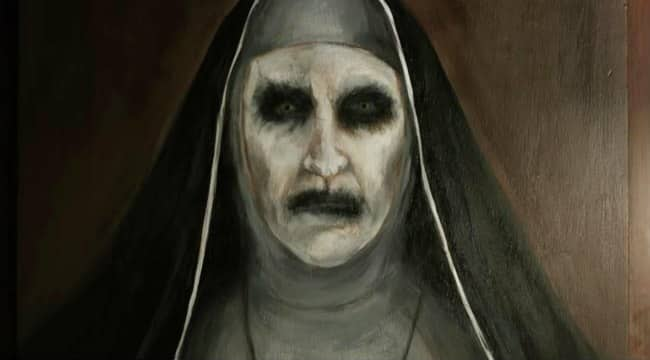 An oil painting of the Nun