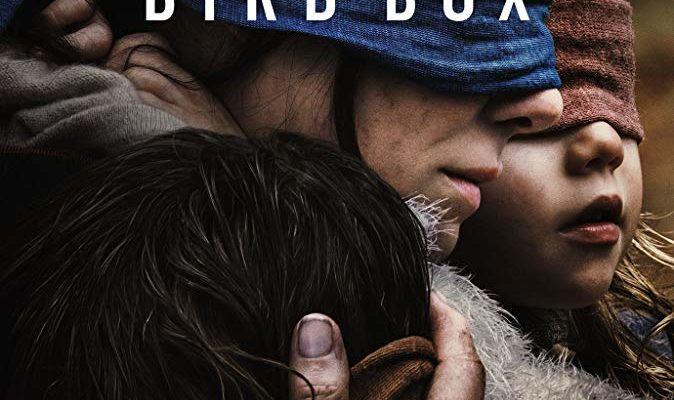 The poster for Bird Box, a Netflix horror movie being reviewed by Horror Movie Talk