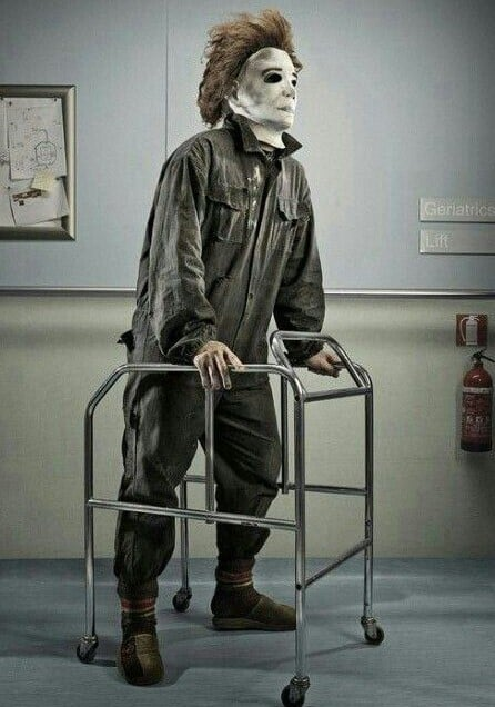 Old Michael Myers in a walker
