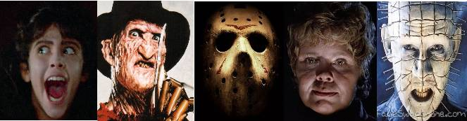 The most popular bad guys from 80's horror movies