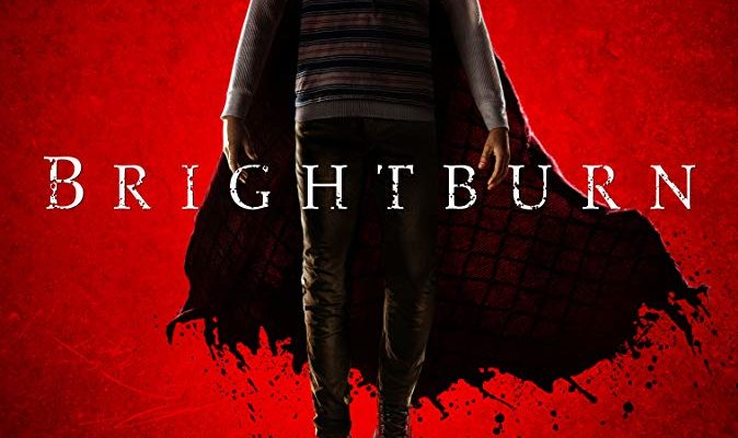 Brightburn movie poster, the horror movie being reviewed on horror movie talk this week.