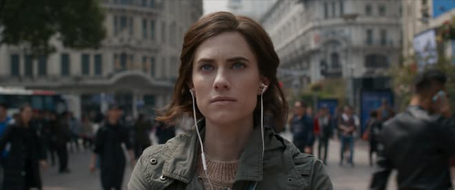 Allison Williams in headphones in The Perfection
