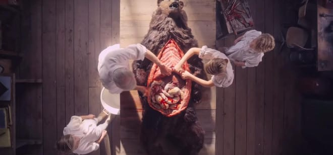 Bear dissection in Midsommar