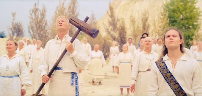 Giant mallet used to brain people in Midsommar.