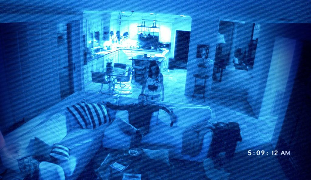 Paranormal Activity 2 Kristi looking over husband