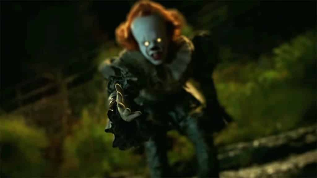 Pennywise the clown offering a helping hand