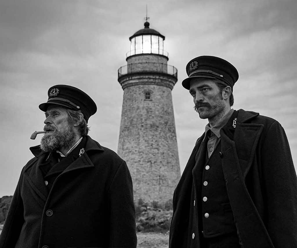 Defoe and PAttinson in The Lighthouse