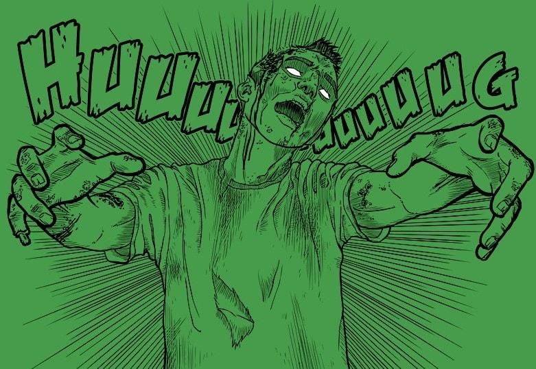 Cartoon Zombie hug