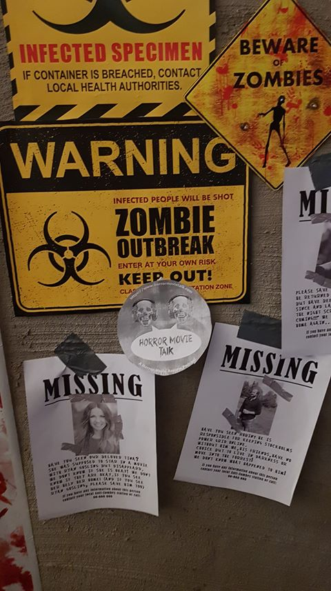 Horror Movie Talk sticker among zombie outbreak signs
