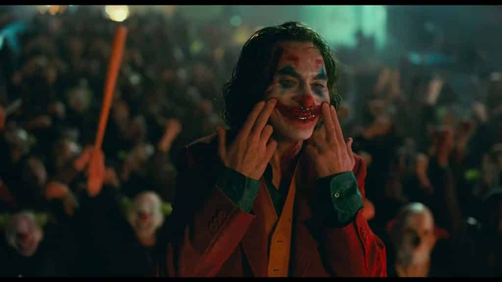 Joker with bloody smile
