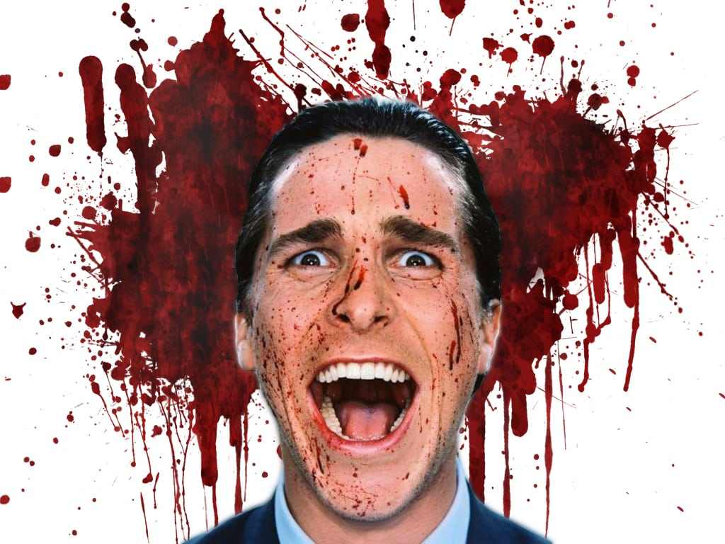 American Psycho blood splatter