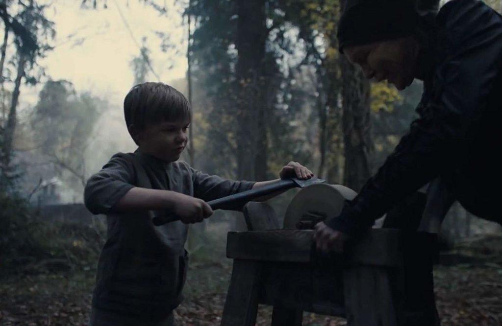 Gretel and Hansel sharpening Axe