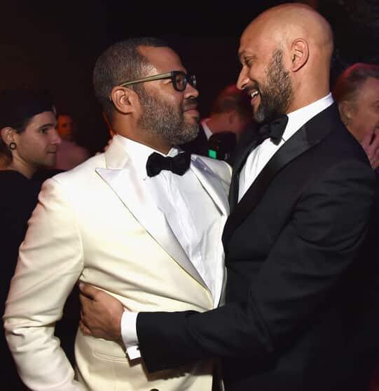 Key & Peele embracing at award ceremony