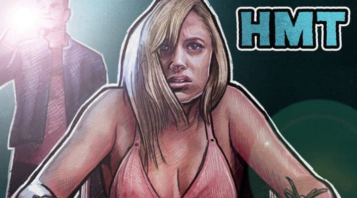 It Follows Horror Movie Talk Illustration with maika monroe in underwear