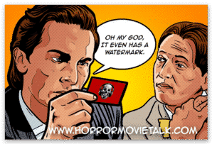 American Psycho Horror Movie Talk Sticker Product