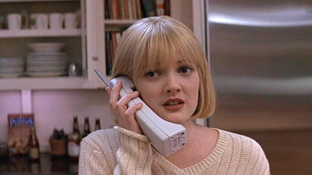 Drew Barrymore on the phone in Scream