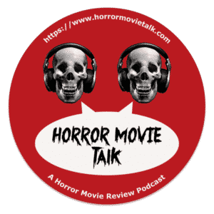 Horror Movie Talk Coaster of old logo