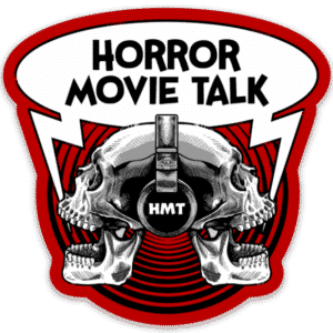 Horror Movie Talk Logo Die Cut Sticker