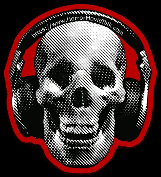 Horror Movie Talk Old Logo Skull With Headphones Sticker