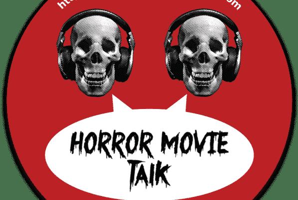 "Horror Movie Talk Old Logo 3"" circle sticker"