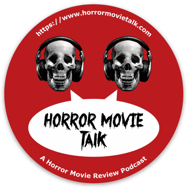 "Horror Movie Talk Old Logo 3"" circle sticker"