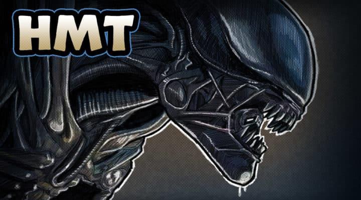Alien movie illustration by horror movie talk