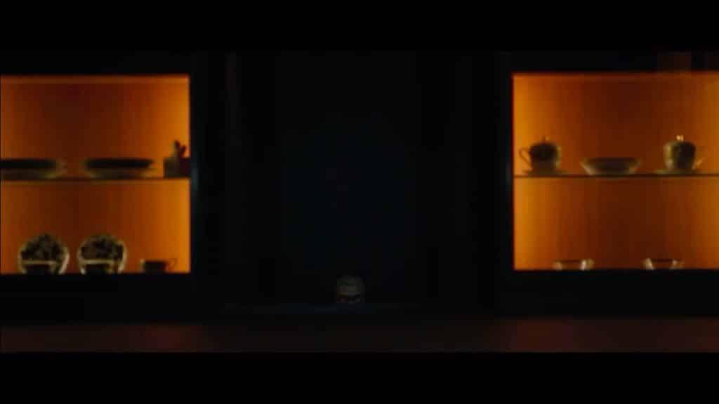 Darkened scene in Parasite