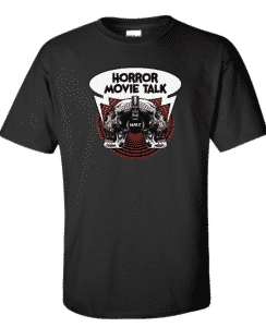 Horror Movie Talk Black Logo Tee