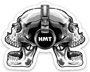 Horror Movie Talk Double Skull Sticker