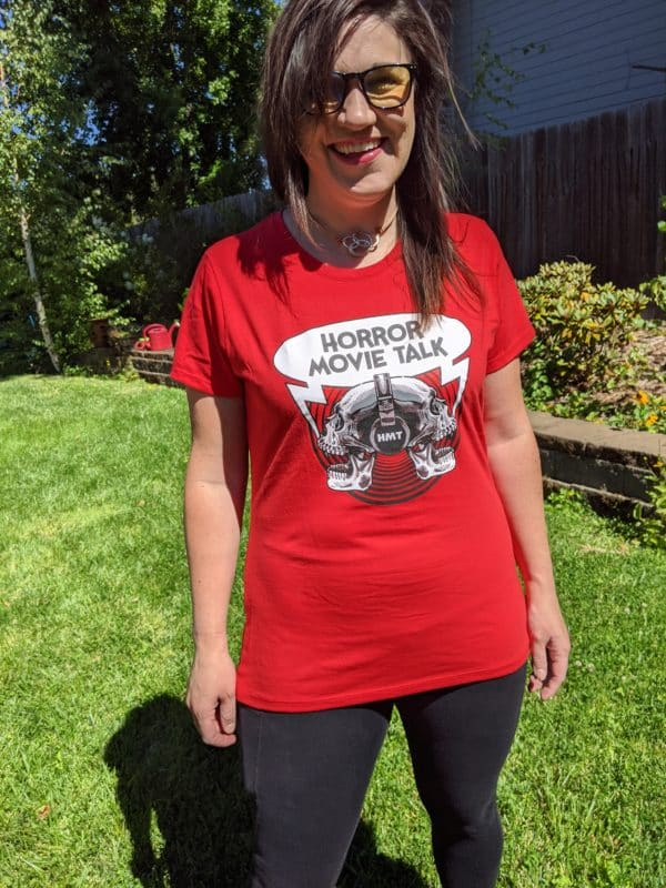 Horror Movie Talk Ladies Red T-Shirt