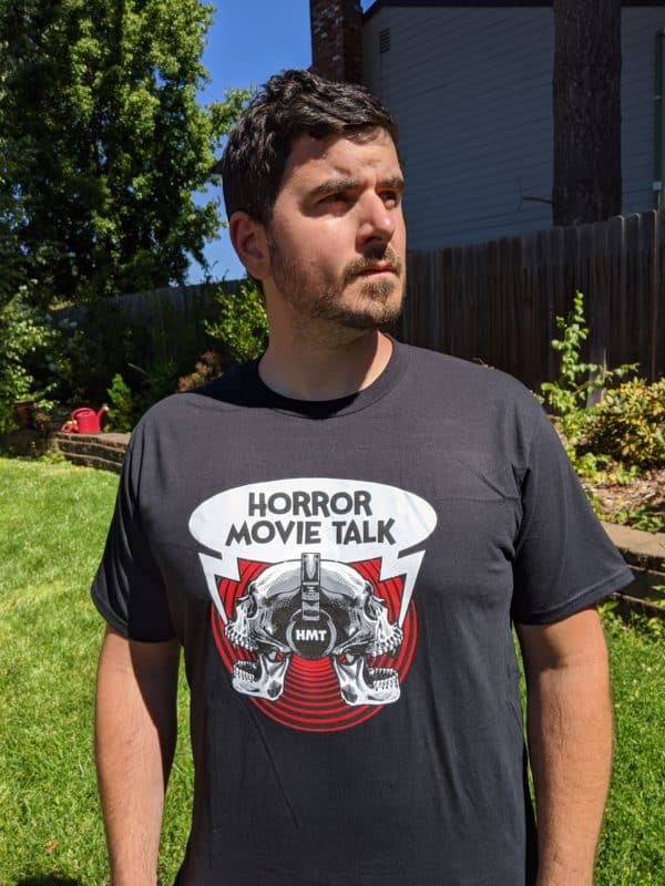 Horror Movie Talk Unisex Black T-Shirt Sexy David