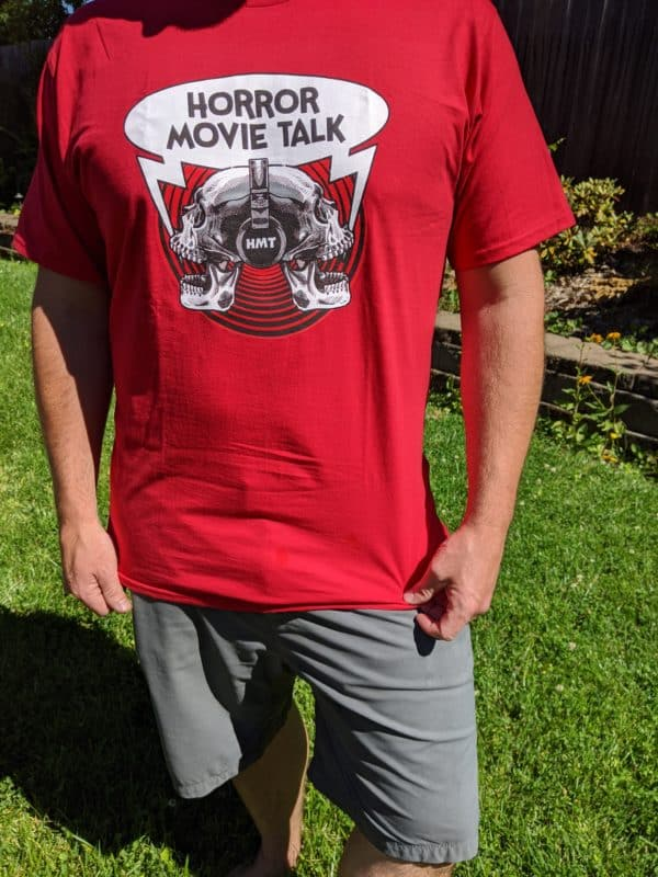 Horror Movie Talk Unisex Red T-Shirt David