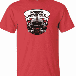 Horror Movie Talk Red Logo Tee