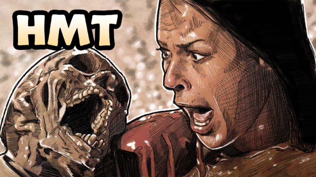 Poltergeist illustration by horror movie talk podcast