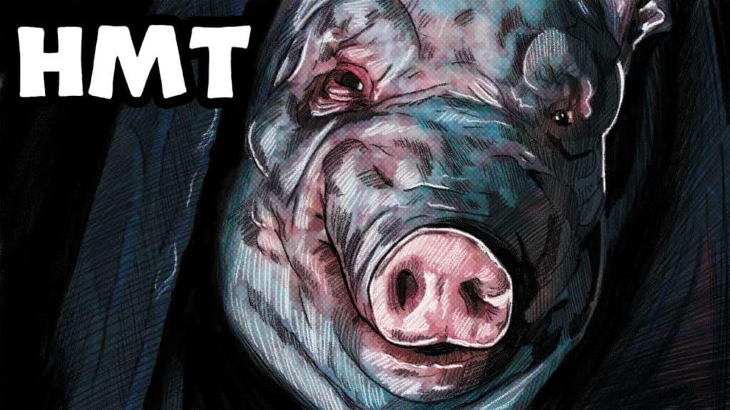 Spiral Illustration for Horror Movie Talk Podcast