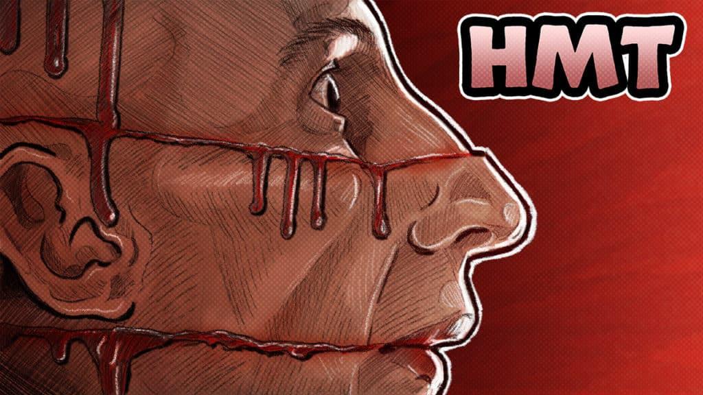 Cube movie illustration by horror movie talk podcast